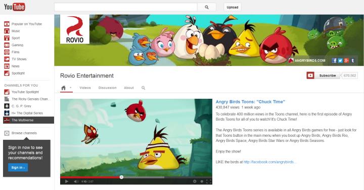 Photo: Rovio Entertainment, Angry Birds