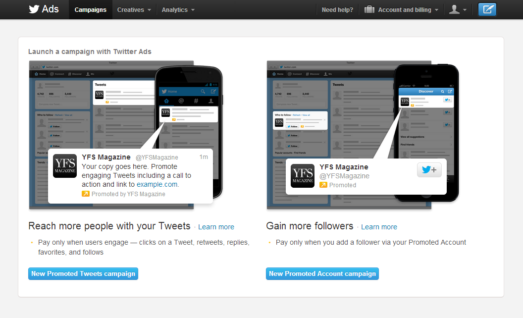 Photo: Twitter Ads Dashboard
