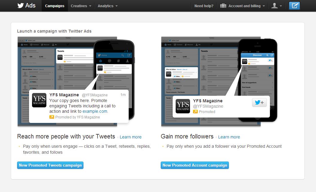 Photo: Twitter Ads Dashboard